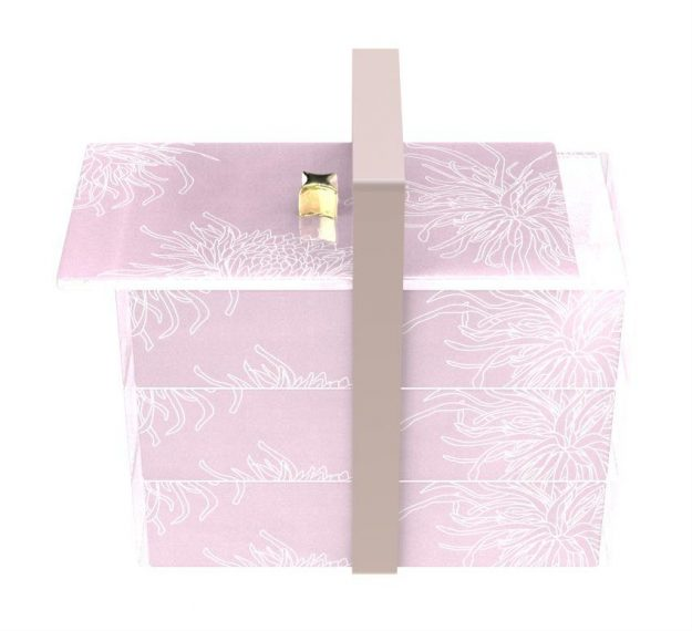 Stylish Pink Bento Box With 3 Compartments Designed by Anna Vasily - 3/4 View
