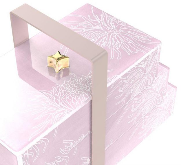 Stylish Pink Bento Box With 3 Compartments Designed by Anna Vasily - Detail View