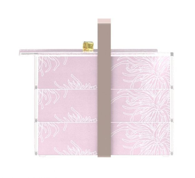 Stylish Pink Bento Box With 3 Compartments Designed by Anna Vasily - Side View