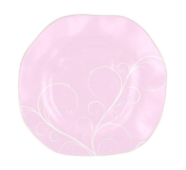 Organic Shaped Pink Charger Plates Designed by Anna Vasily - Top View