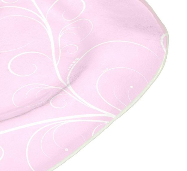 Organic Shaped Pink Charger Plates Designed by Anna Vasily - Detail View