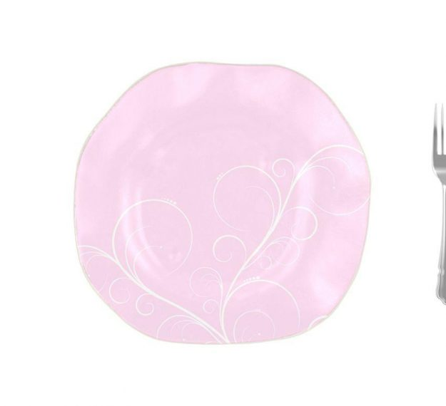 Organic Shaped Pink Charger Plates Designed by Anna Vasily - Measure View