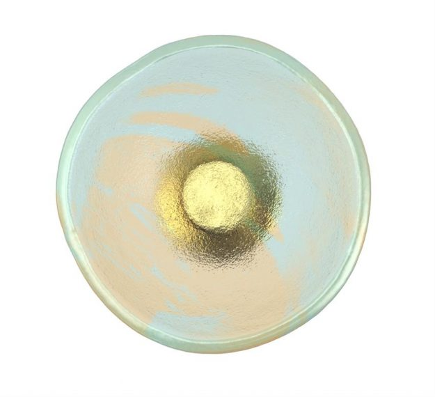 Pastel Blue Ice Cream Glass Cup Designed by Anna Vasily - Top View