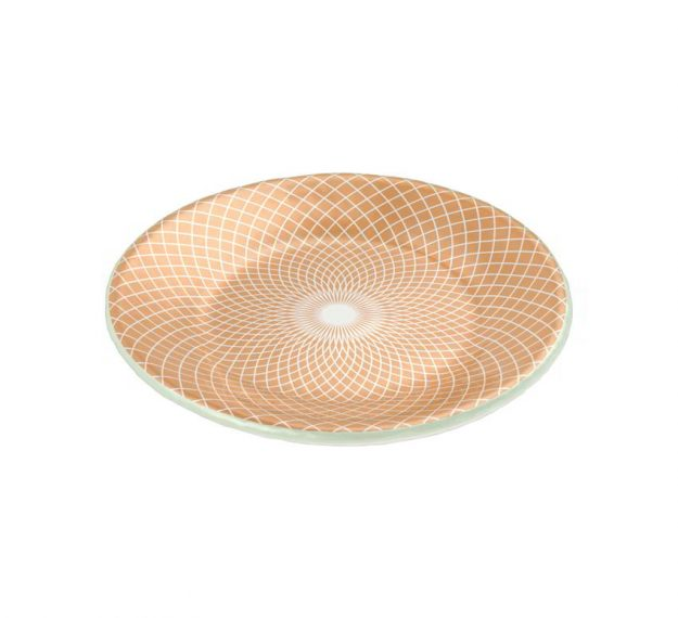 Fine gold round side plate