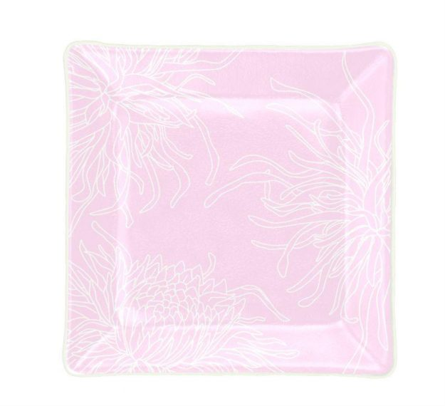 Pink Side Plates for a Touch of Whimsy by Anna Vasily - Top View