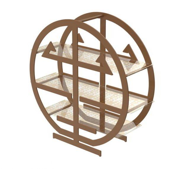 Round metal high tea stand