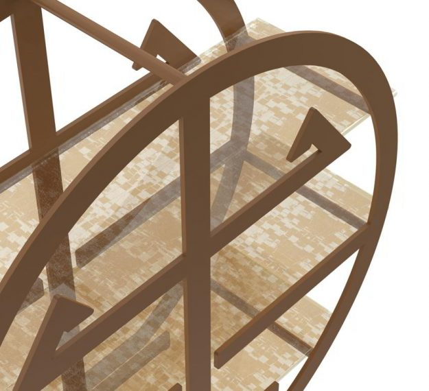 Modern High Tea Stand in Asian Inspired Design by Anna Vasily - Detail View
