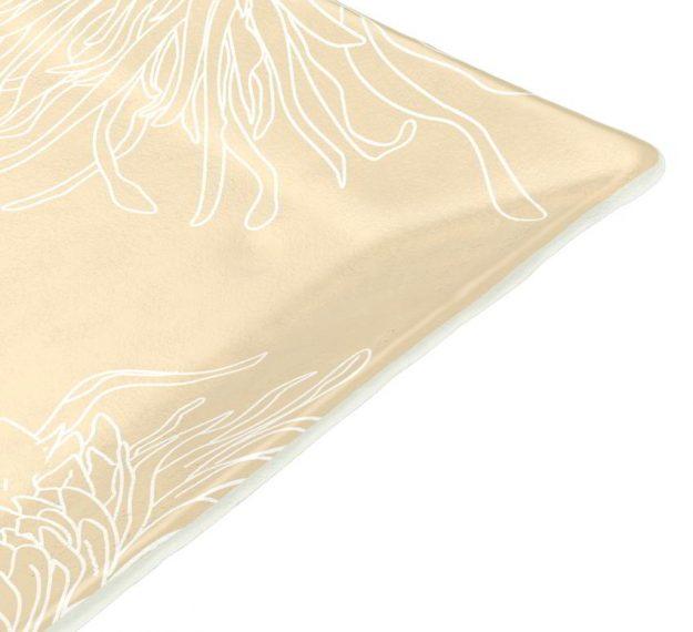 Floral Dinner Plates in Metallic Beige Designed by Anna Vasily - Detail View