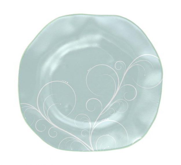 Free form blue charger plate