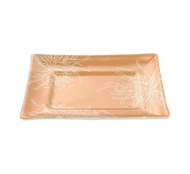 Rectangular gold dinner plate
