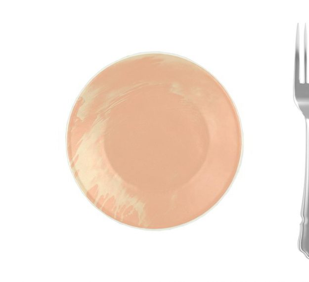 Rose Gold Side Plates - Maia Handmade Side Plates by Anna Vasily - Measure View