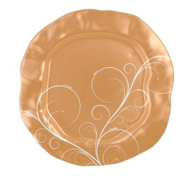 Matte Gold Serving Platter Designed by Anna Vasily - Top View