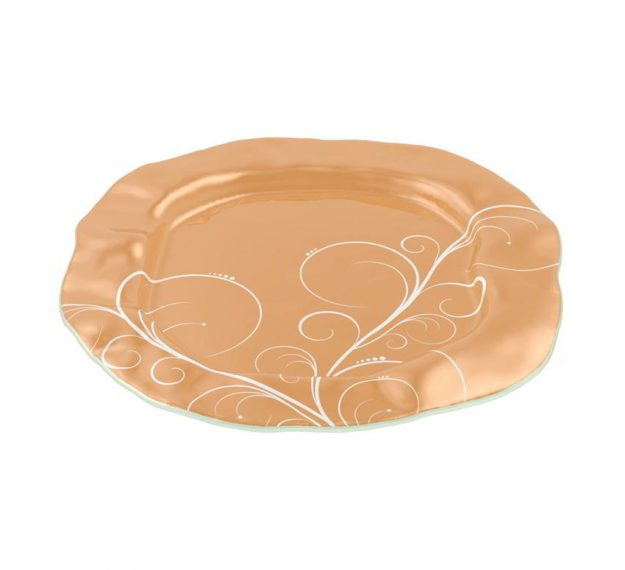 Matte Gold Serving Platter Designed by Anna Vasily - 3/4 View