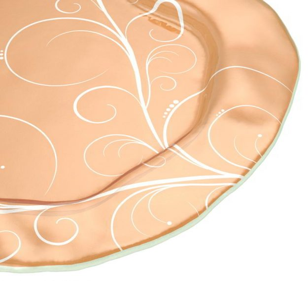 Matte Gold Serving Platter Designed by Anna Vasily - Detail View