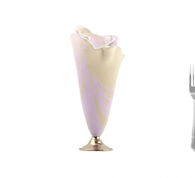 Pink Vase With Cream Highlights Coloured Glass Vases by AnnaVasily - Measure View