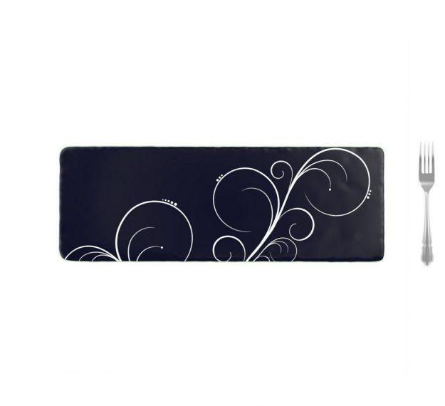 Stylish Dark Navy Blue Platters Designed by Anna Vasily - Measure View