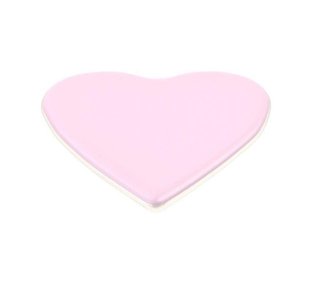 Heart shaped pink coaster