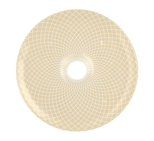 Round Sushi Serving Platter in Beige-Cream Designed by Anna Vasily - Top View