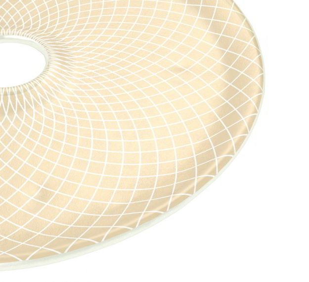 Round Sushi Serving Platter in Beige-Cream Designed by Anna Vasily - Detail View