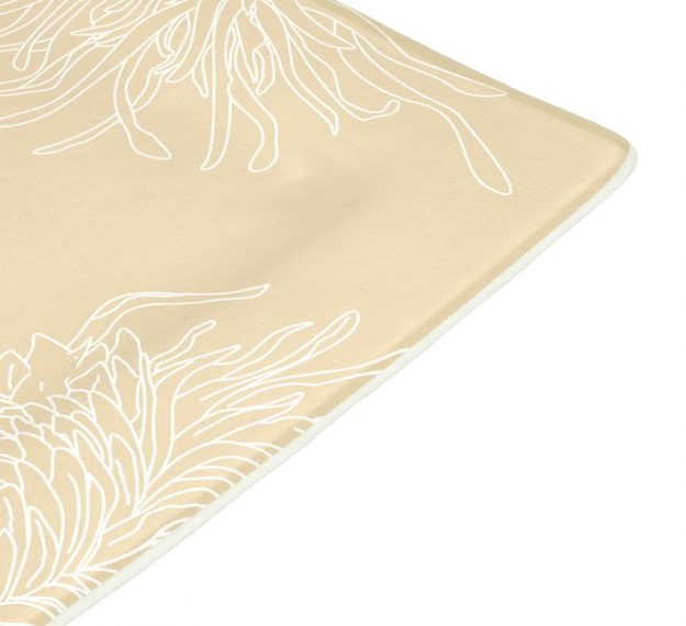 Floral Charger Plates in Cream-Beige Designed by Anna Vasily - Detail View