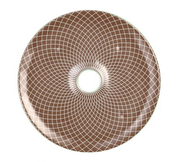 Doe Brown Plates Designed as Chip Dip Platter by Anna Vasily - Top View