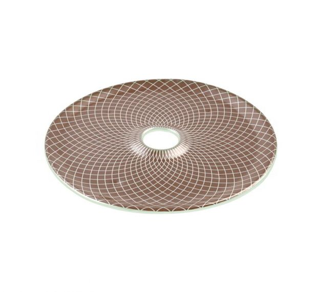 Doe Brown Plates Designed as Chip Dip Platter by Anna Vasily - 3/4 View