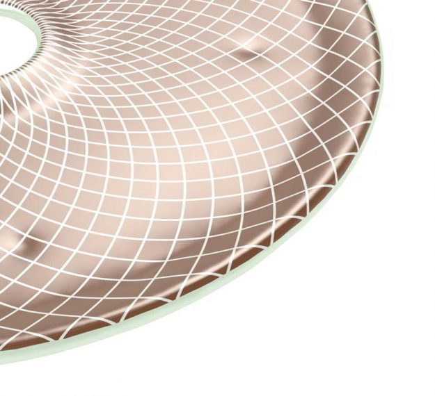 Doe Brown Plates Designed as Chip Dip Platter by Anna Vasily - Detail View