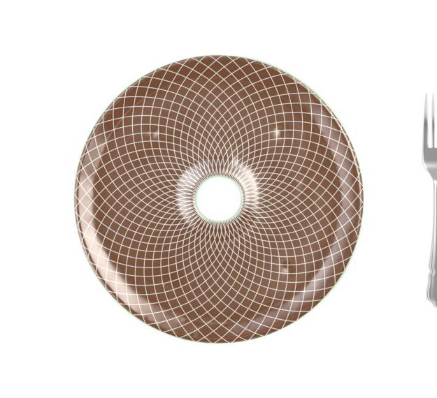 Doe Brown Plates Designed as Chip Dip Platter by Anna Vasily - Measure View