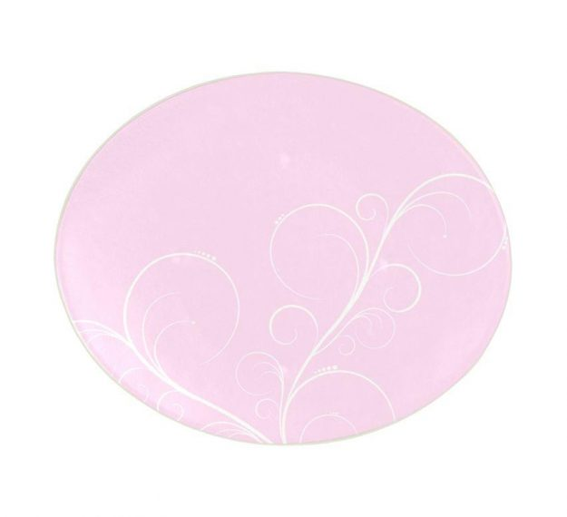 Floral Pink Dessert Plates With an Organic Wavy Form by Anna Vasily - Top View