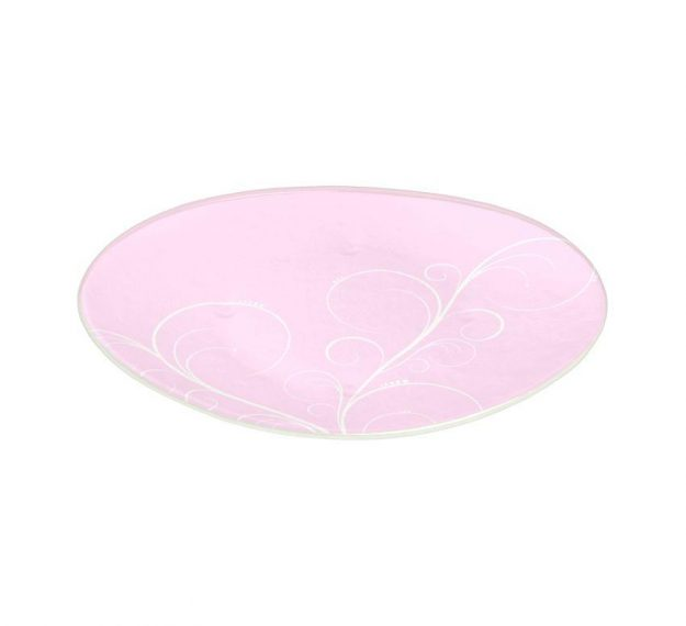 Floral Pink Dessert Plates With an Organic Wavy Form by Anna Vasily - 3/4 View