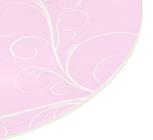 Floral Pink Dessert Plates With an Organic Wavy Form by Anna Vasily - Detail View