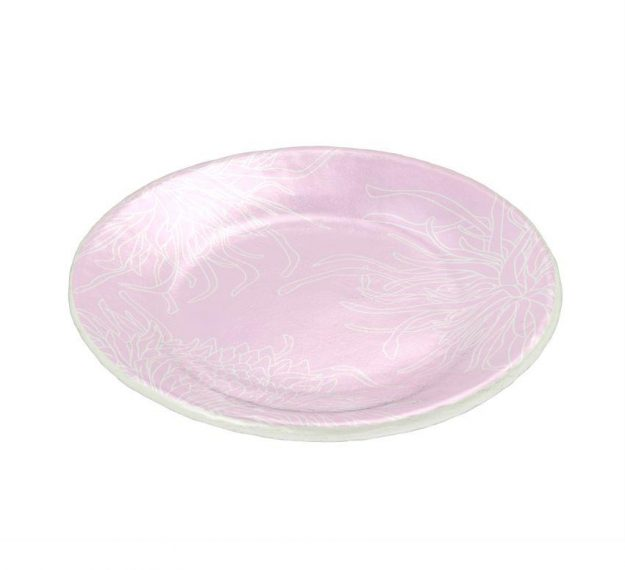 Floral pink side plate