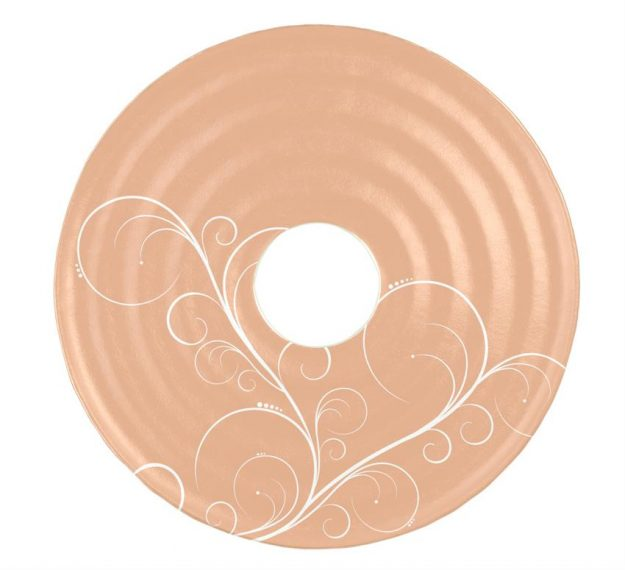 Stylish Rose Gold Platter with Insert by Anna Vasily - Top View