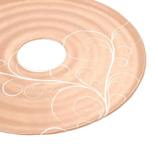 Stylish Rose Gold Platter with Insert by Anna Vasily - Detail View