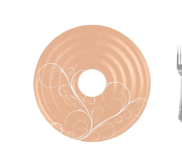 Stylish Rose Gold Platter with Insert by Anna Vasily - Measure View
