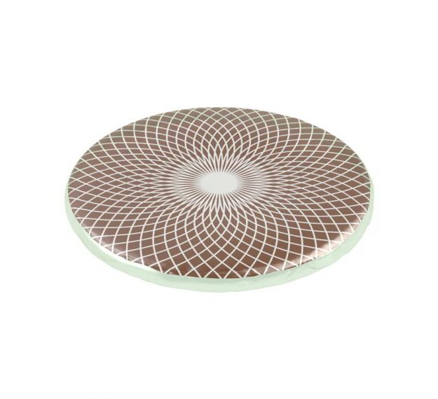Round brown glass coaster set