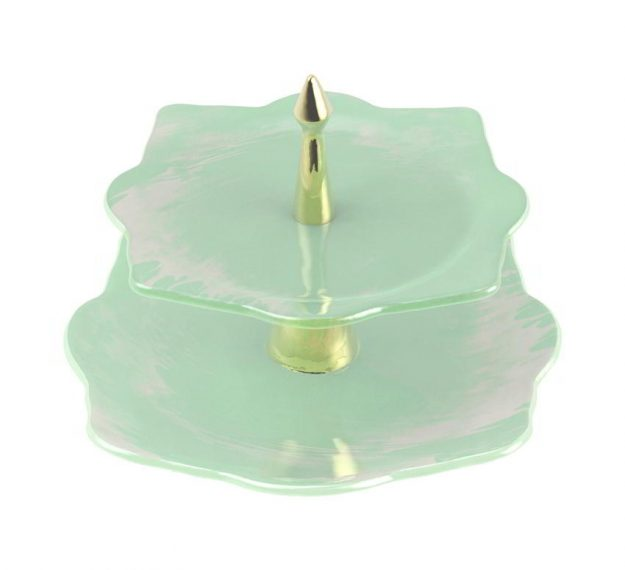 Mint Green High Tea Stand Designed by Anna Vasily - 3/4 View