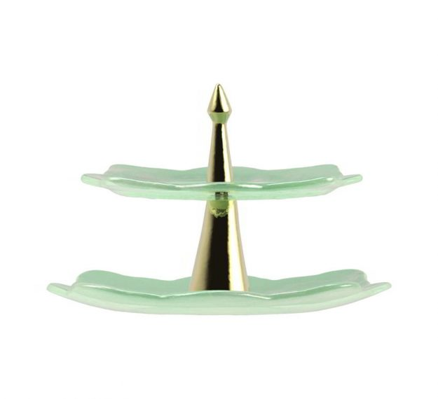 Mint Green High Tea Stand Designed by Anna Vasily - Side View