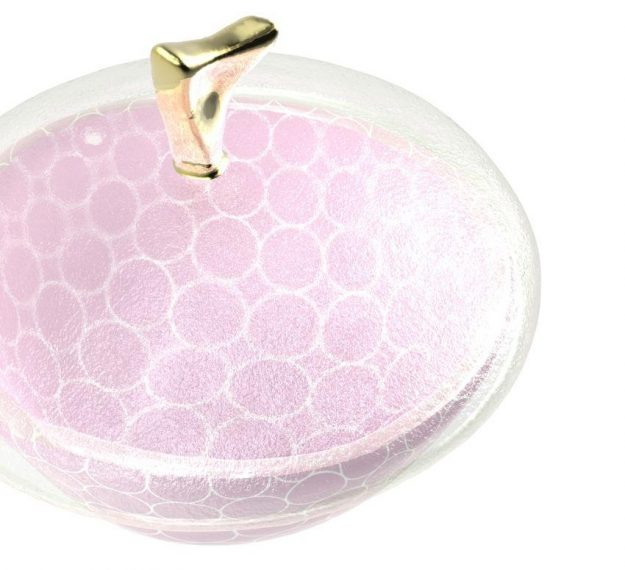 Patterned Pink Candy Box with Lid Designed by Anna Vasily - Detail View