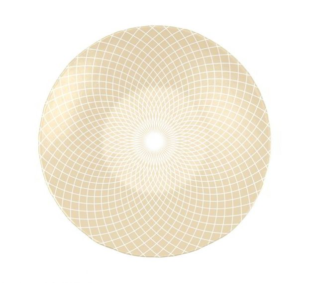 Decorative Salad Bowl Designed by Anna Vasily for Timeless Elegance - Top View