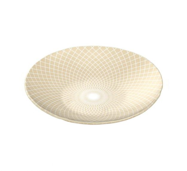 Decorative Salad Bowl Designed by Anna Vasily for Timeless Elegance - 3/4 View
