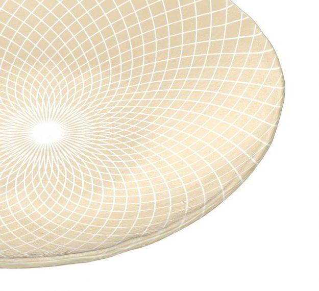 Round cream fruit bowl