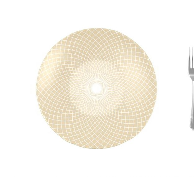 Decorative Salad Bowl Designed by Anna Vasily for Timeless Elegance - Measure View