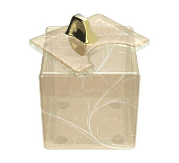 Unique Sugar Holder Box for Sugar Cubes, Designed by Anna Vasily - 3/4 View