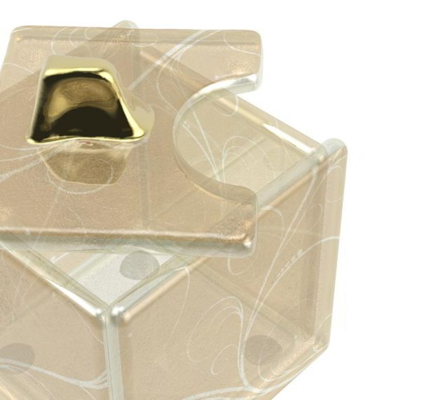 Unique Sugar Holder Box for Sugar Cubes, Designed by Anna Vasily - Detail View