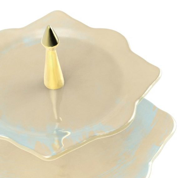 Two Tier Cake Stand Handcrafted for the Best Hotels by Anna Vasily - Detail View