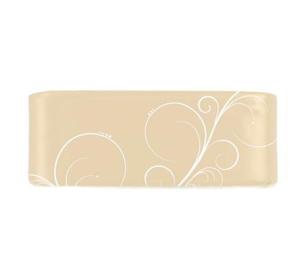 Elegant napkin holder in cream