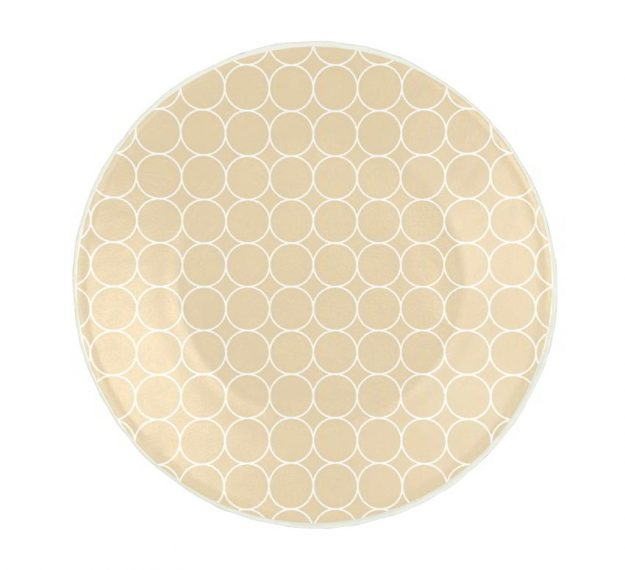 Handcrafted Pretty Side Plates in Beige Designed by Anna Vasily - Top View