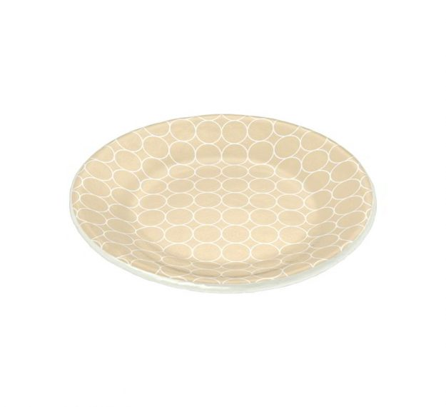 Handcrafted Pretty Side Plates in Beige Designed by Anna Vasily - 3/4 View