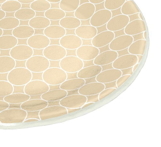 Handcrafted Pretty Side Plates in Beige Designed by Anna Vasily - Detail View